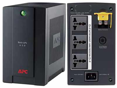 APC Back-UPS 650VA With AVR and Surge Protection - Advanced Technology UPS with 2 years APC Warranty