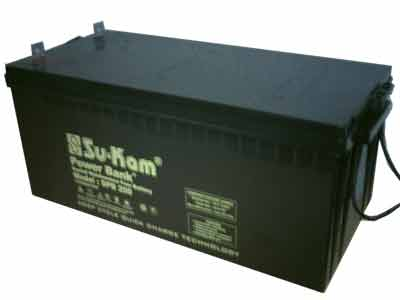 Su-Kam Deep Cycle Sealed Maintenance-free Battery for Inverters 200AH 12V Sukam Power Bank