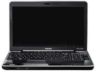 Toshiba Satellite A500-1DN Laptop Featuring Intel Core 2 Duo Processor T6600 2.2GHz Clock Speed, 4GB RAM Expandable to 8GB, 320GB HDD, 1GB Dedicated Graphics Memory, DVD+/-RW, Wireless, Webcam, Bluetooth, Fingerprint Sensor, Windows 7...